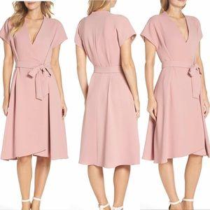 Gal Meets Glam Audrey Wrap Dress Pink Blush